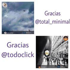 Repost de agradecimiento a las Galerías @total_minimal y @todoclick que han elegido algunas de mis fotos!!!