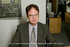 Death glare. Dwight schrute