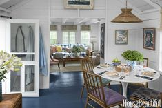A Charming Nantucket Cottage Is the Perfect Coastal Retreat After: Morning Room Faced with a ceiling height of just. Nantucket Cottage, Cute Cottage, Beach Cottage Style, Beach Cottage Decor, Coastal Cottage, Nantucket Style, Coastal Living, Maine Cottage, Lakeside Cottage