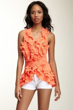 Ruffled Out Top on HauteLook