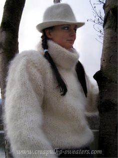 Tumblr is a place to express yourself, discover yourself, and bond over the stuff you love. It's where your interests connect you with your people. Mohair Sweater, Fur Coat, Turtle Neck, Sweaters, Jackets, Connect, Bond, People, Fashion