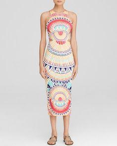 Mara Hoffman Dress - Bloomingdale's Exclusive Ponte Cutout Printed | Bloomingdale's