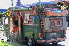 vardo - one cute camper conversion! Volkswagen Transporter, Vw T1 Camper, Camper Caravan, Gypsy Caravan, Gypsy Wagon, Hippie Camper, Glamping, Vw Camping, Tiny Mobile House
