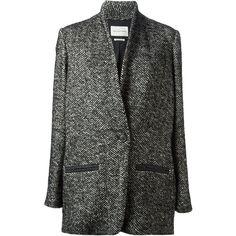 ISABEL MARANT ETOILE 'Denver' coat (€240) ❤ liked on Polyvore featuring outerwear, coats, jackets, coats & jackets, etoile isabel marant coat, black and white coat and long sleeve coat