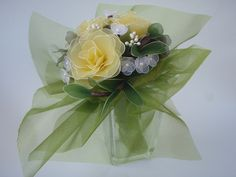 sárga rózsacsokor , Dekoráció, Esküvő, Mindenmás, Esküvői csokor, Meska