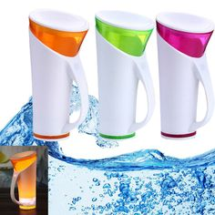 Intelligent Plastic Cup w/ Voice Control Induction Touch Sensor Digital LED Indicator Temperature Display Water Drinking Bottle