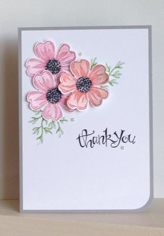 Flower Shop stamps Thank You card - created by Julia Jordan