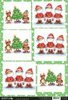 Buzzcraft The Jingles Christmas die cut toppers - Tis the Season
