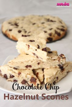 Chocolate Chip Hazelnut Scones. Enjoy these soft, moist scones any time of the…