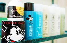 I took the shampoo & conditioner from the hotel & bought a big bottle of h2o that we brought home to smell of Disney ^_^