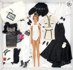 Exclusive fashion for integrity toys poppy parker, fashion royalty, nuface, barbie and silkstone 12 inch doll Integrity, Kos, Barbie Dolls, Poppy, Monochrome, Royalty, Silk, Black And White, Outfits