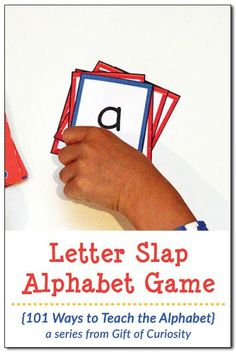 Free printable Letter Slap Alphabet Game to work on letter recognition || Gift of Curiosity