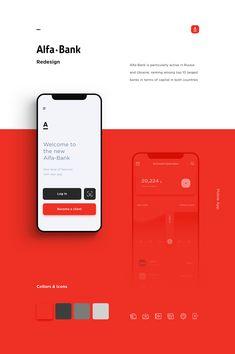 interface design Alfa-Bank Redesign Alfa-Bank on Behance Mobile Ui Design, Application Ui Design, Interaktives Design, Application Mobile, Logo Design, Dashboard Design, App Ui Design, User Interface Design, Responsive Web Design