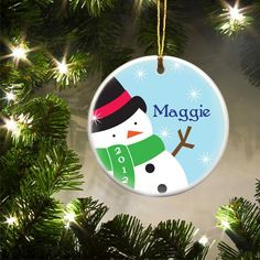 Personalized Kids Christmas Ceramic Ornaments – Personalized Gifts