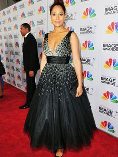 Actress Traci Ellis Ross in Jovani style 171034