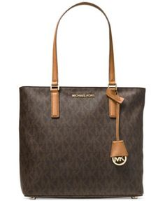 MICHAEL Michael Kors Medium Morgan Tote in Signature Print | macys.com