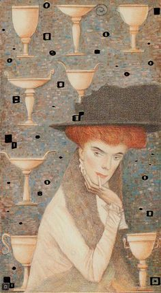 Eight of Cups The Golden Tarot of Klimt by Atanas Alexander Atanssov