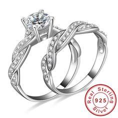 Barato Jewelrypalace infinito amor simulado anel de noivado casamento define 925 Sterling Silver 18 K mulheres novo ouro de jóias de noiva, Compro Qualidade Anéis diretamente de fornecedores da China:                       Características          Condição do item     : Novo       Tamanho do anel:    4