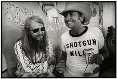 Leon Russell and Willie Nelson, by Jim Marshall