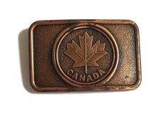 Vintage Canada Belt Buckle Maple Leaf Design | Etsy Canadian Maple Leaf, Metal Belt, Simplicity Sewing Patterns, Melissa Carter, Leaf Design, Vintage Jewelry, Unique Jewelry, Belt Buckles, Copper