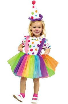 She's ready for the big top. She's the colorful prankster that's ready for show time wearing the Big Top Fun Clown Tutu Dress Costume.