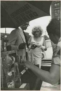Arthur & Marilyn Monroe, by Sam Shaw in New York