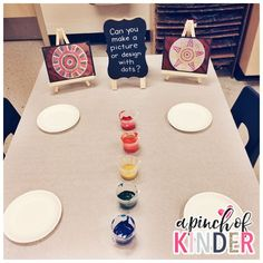 A Pinch of Kinder: An art provocation: Can you make a picture or design with dots?