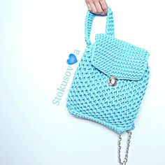 Рюкзак из трикотажной ленты @Stokusovaknitomsk