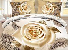 Skincare paisley pattern 3d duvet cover set, will you love it? Buy link>>>http://urlend.com/7neuiaU Live a better life, start with +Beddinginn  http://www.beddinginn.com/product/Skincare-Cream-Rose-and-Paisley-Flower-Print-3D-Duvet-Cover-Set-10918766.html