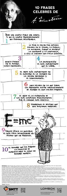 10 frases célebres de Einstein #infografia #infographic