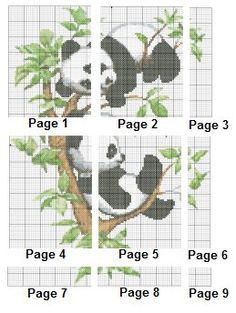 Image result for panda cross stitch pattern