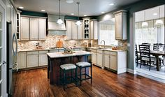 My dream kitchen and solarium! By Toll Brothers
