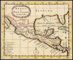 Mexico or New Spaine By John Seller 1685