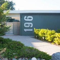 Huge Modern Houses modern house numbers | curb appeal | pinterest