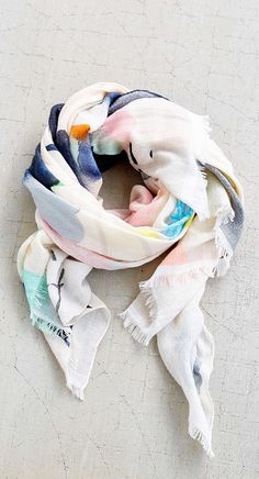 Watercolors scarf