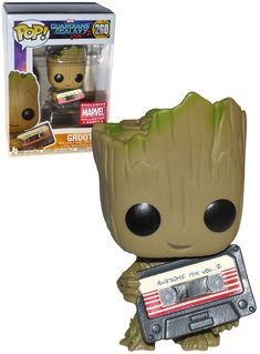 Marvel Guardians Of The Galaxy Vol. 2 Groot (Awesome Mix Tape) - Marvel Collector Corps Exclusive - New, Mint Condition - Funko Pop Figurine, Figurines Funko Pop, Funko Figures, Pop Disney, Film Disney, Pop Vinyl Figures, Awesome Mix Vol 2, Best Funko Pop, Funko Pop Dolls