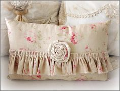 Rose  and Ruffle Pillow...