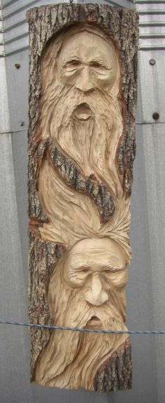 Chainsaw Wood Carvings and sculptures by Jim Menken, Canadian Chainsaw Carver and Artist, carving Faces in Orangeville, Toronto, Mississauga and around Ontario