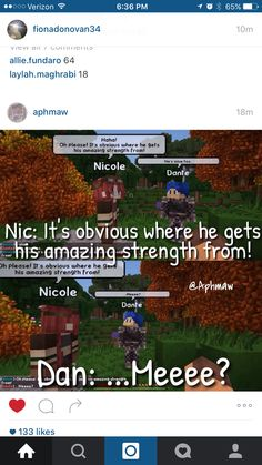 I just realised in aphs my street its dante and Nicole but in mc diarys dante and kawaii chan have a kid and kawaii chan is shipped with reese