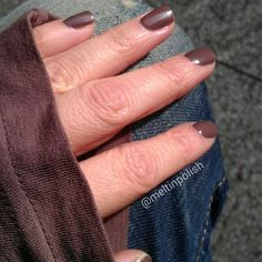 """Winter 2011/12. @Sephoraitalia """"Welcome to my loft"""", an interesting taupe/brown, really different as the light changes. Here it seems closer to chocolate. #nails #nail #nofilter #fashion #style #illamasqua #brown #taupe #cute #beauty #beautiful #instagood #pretty #girls #stylish #sparkles #styles #nailart #Sephora #photooftheday #nailsofinstagram #unhas #ongles #notd #vernis #shiny #polish #nailpolish #nailswag #polishaddict"""