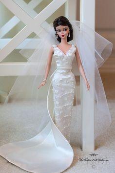 Silkstone Barbie – Page 2 – Inside the Fashion Doll Studio Barbie Bridal, Barbie Wedding Dress, Wedding Doll, Barbie Gowns, Barbie Dress, Barbie Clothes, Barbie Style, Fashion Royalty Dolls, Fashion Dolls