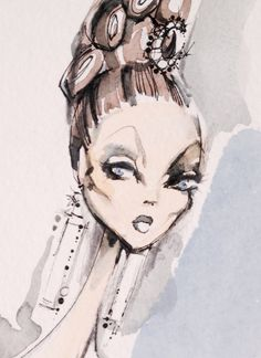 WATER ~fashion sketch (detail) by Henry Dale House 2015