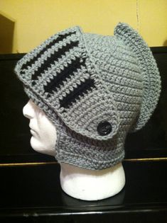 This hat comes in any size with a detachable face shield that can also be worn on your head for cattle or across your face for warmth Hand Warmers, Crafts To Make, Headbands, Knight, Crochet Hats, Beanie, Costumes, Knitting, Trending Outfits