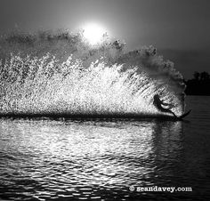 Waterskiing definitely has some things going on to surfing.....
