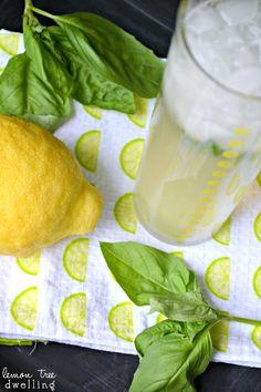 Lemon-Basil Spritzer via lemontreedwelling.com