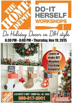 DIYWorkshop At Your Neighborhood HomeDepot ChristmasTreeCardHolder Workshopshomedepot Workshops Do It Yourself