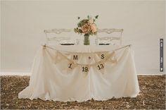 shabby chic sweetheart table decoration ideas | VIA #WEDDINGPINS.NET