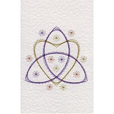 Triquetra and Heart | Leisure patterns at Stitching Cards.