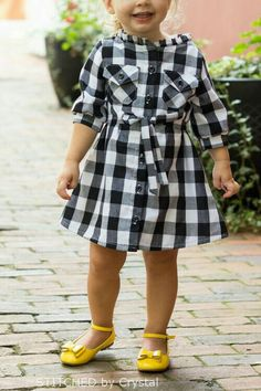 Brownie-Goose, Hattie {Stitched by Crystal} – Frances SuzanneFrances Suzanne – Kleidung African Dresses For Kids, Little Girl Outfits, Kids Outfits Girls, Little Girl Dresses, Girls Dresses Sewing, Girls Frock Design, Baby Dress Design, Baby Girl Frocks, Frocks For Girls
