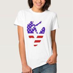 USA surfing American surfer t-shirt